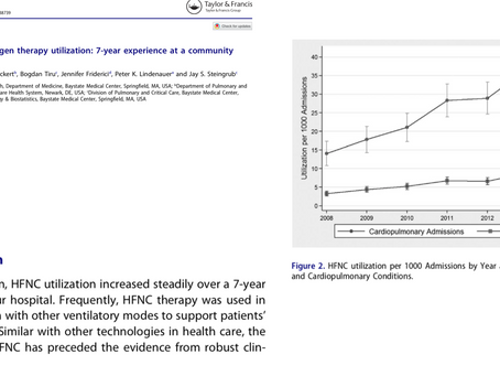 High flow nasal oxygen therapy utilization: a 7-year experience at a community teaching hospital.