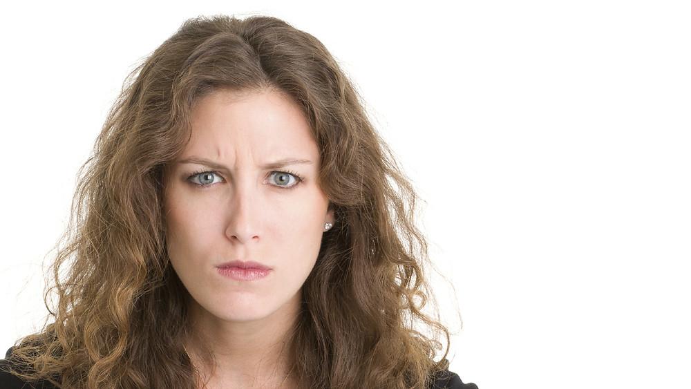 Mujer enojada.