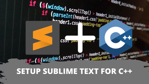 How to Set-Up Sublime Text for Competitive Programming?