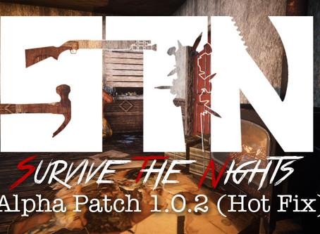 Dec 6th - Patch Notes - Alpha 1.0.2 (Hot Fix)