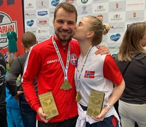 Charlotte og Nickolaj vinner Hungarian World Cup 2019 i Kickboxing