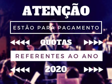 Ajude-nos a cumprir a nossa missão - Quotas 2020