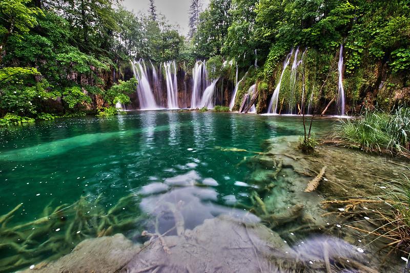 cascades du plitvice en Croatie