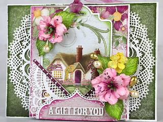 Rose Cottage Tag Card