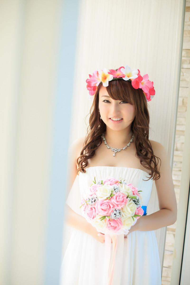 沖縄フォトウエディング 新婦の花冠
