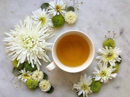 Warm Green Tea with Peach Recipe - Ideal for Organic September!