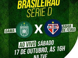 Serie D: TVE transmite jogo ao vivo entre Bahia de Feira e Gama