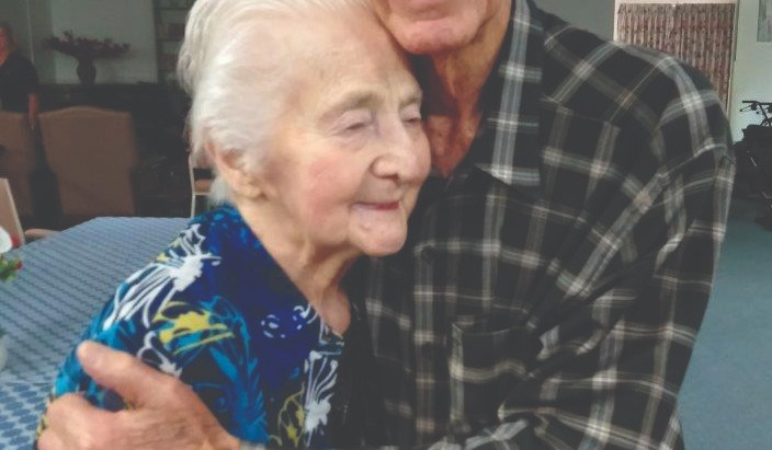 Joe and Ruby Bond 77 years together