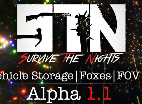 Dec 22nd - Patch Notes - Alpha 1.1.3 (Winter Event | Vehicle Storage | Foxes | FOV ++)