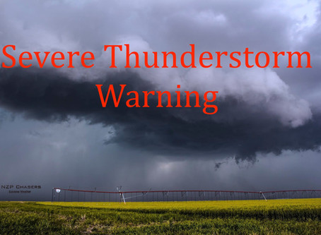 Severe thunderstorm warning issued for Winnipeg