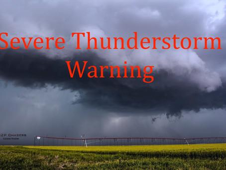 Severe thunderstorm warning issued for Winnipeg