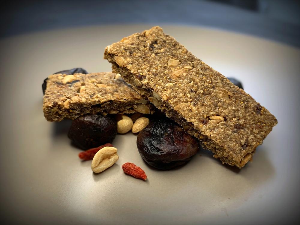 Barras de cereal maní/higos - Nutricionista Vegetariana Karina Herrera