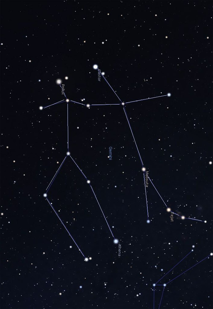 winter constellations stars map gemini