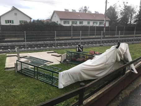 """Sturmtief """"Petra"""" zerfetzt unser Gartenbahn-Zelt"""