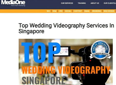 SnJ featured in Top Wedding Videography Services In Singapore by MediaOne!!