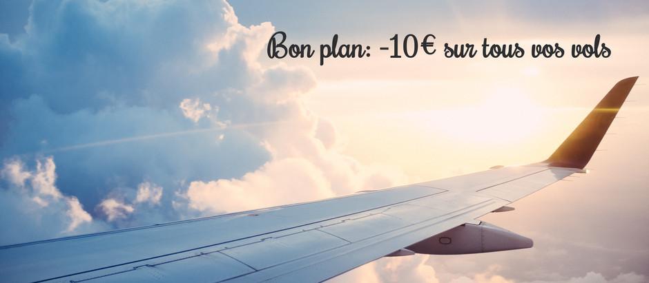 Code promo Ulysse: -10€ sur votre vol