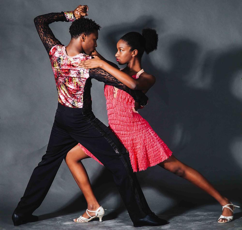Couple dancing ballroom