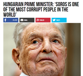 Hungarian Prime Minister: 'Soros Is One of the Most Corrupt People in the World'