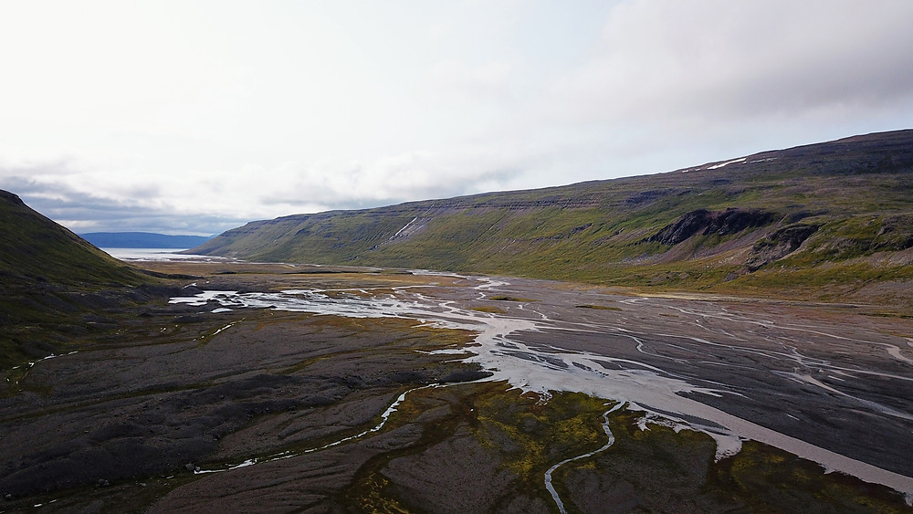 Drangajökull Glacier, Iceland scenic view drone shot aerial photography hoverhigher