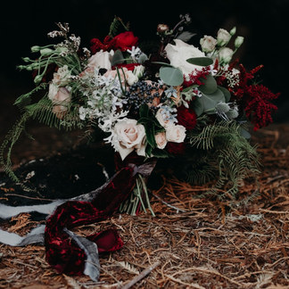 MOODY REDWOOD BRIDAL BOUQUET