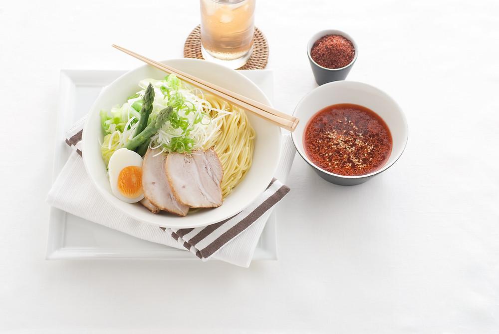 辛辛つけ麺広島流の調理例