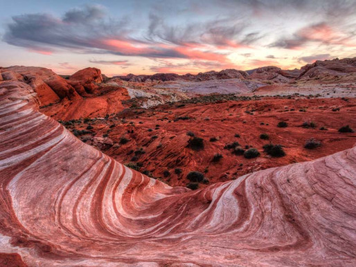 Valley of Fire dans le Nevada (Etats-Unis)