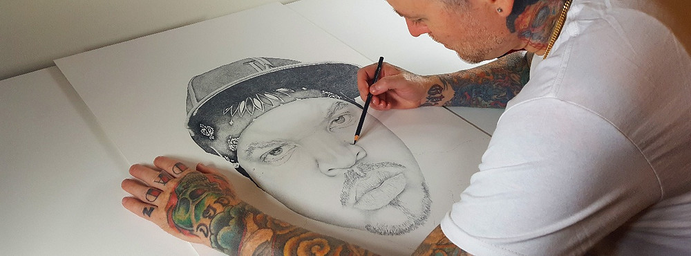 Drawing NWA's Ice Cube