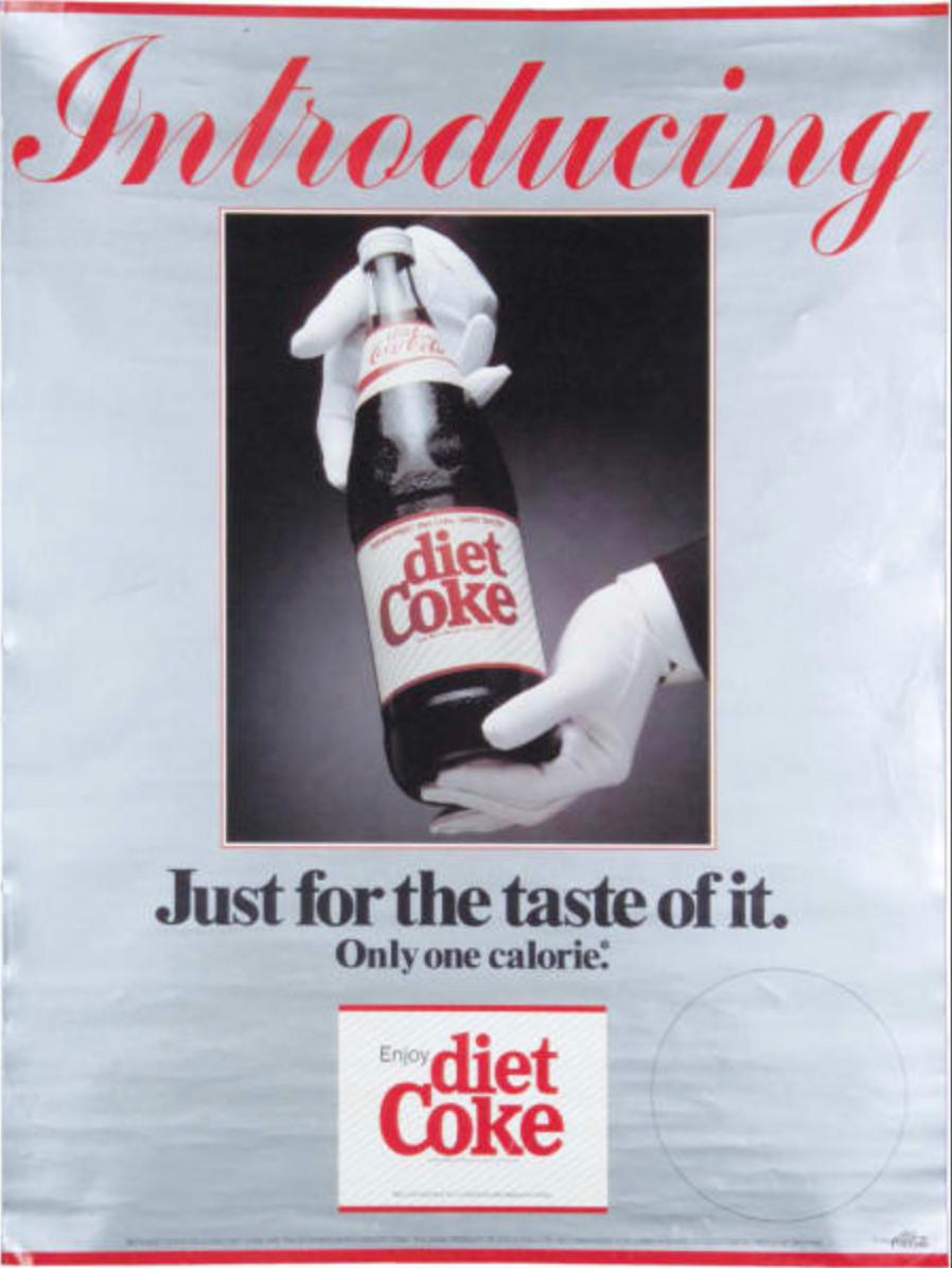 Anuncio de Coca-Cola: Diet Coke.