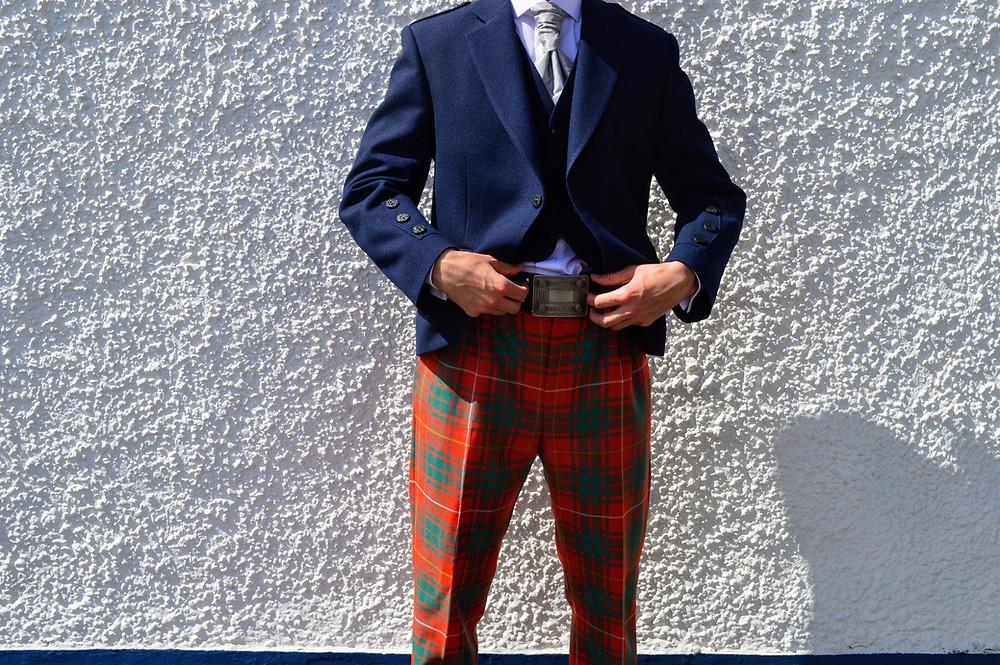 Crail jacket with Ancient Bruce Argyll tartan trews