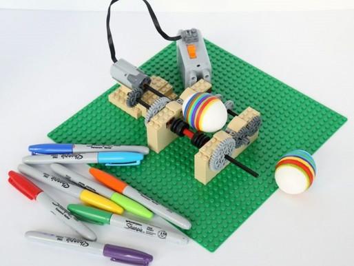 КАК ПОСТРОИТЬ МАШИНУ LEGO ДЛЯ УКРАШЕНИЯ ЯИЦ