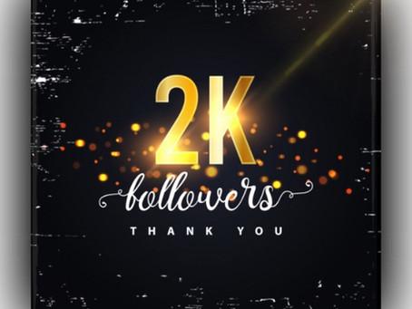 2K Followers on Instagram!!!