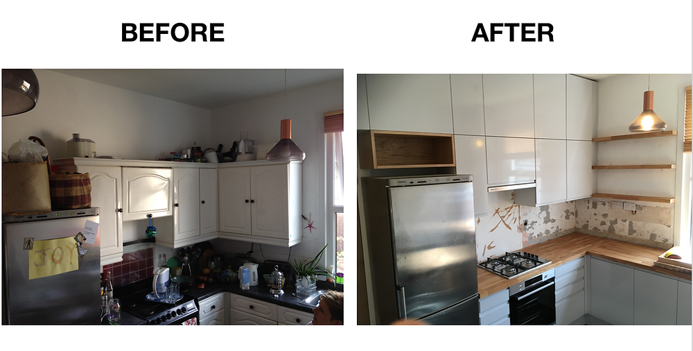 We kept the cost down for this client on a budget by designing around a Magnet trade kitchen then adding extra real oak cupboards and Shelves