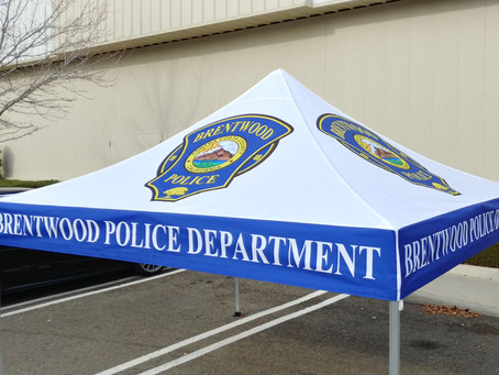 Brentwood Police Department Pop-up Tent and Banner