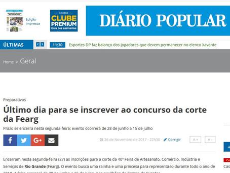 Na Imprensa - Diário Popular divulga Fearg 2018