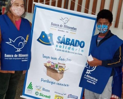 Banco de Alimentos realiza mais uma edição do Sábado Solidário