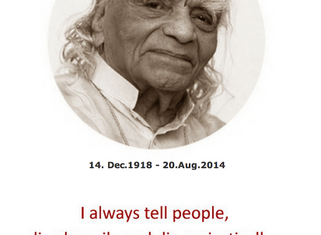 Celebrating 100 years - BKS Iyengar's birthday