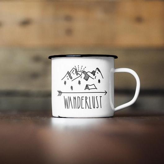 Wanderlust quote on mug