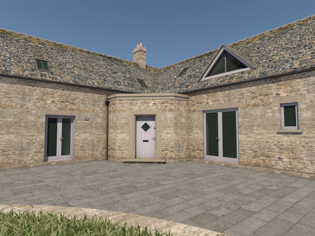 Extension to The Coach House, Crudwell underway
