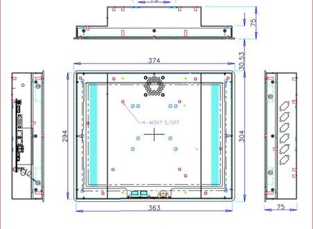 CTPN150  4:3 정전 터치 대응         mini ITX 적용 산업용 정전터치 판넬 PC cs@jonathan.co.kr 문의 메일