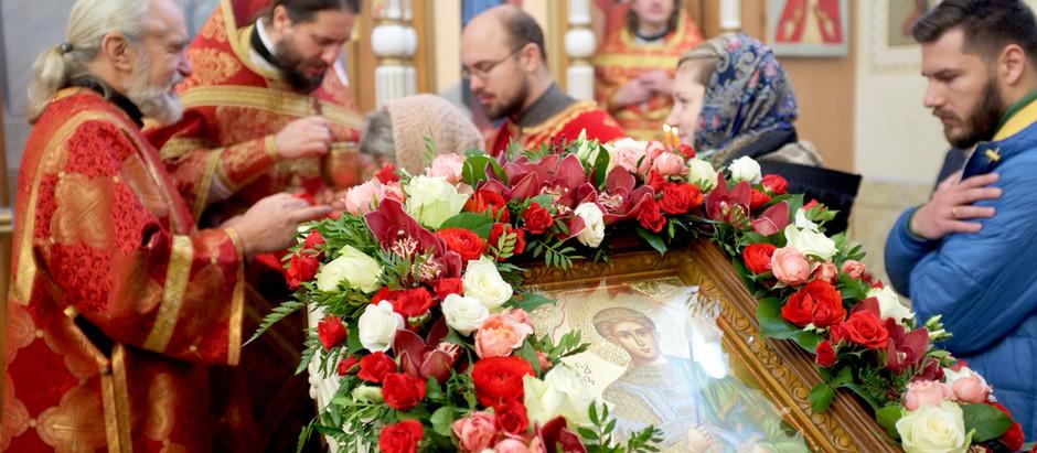 Первая литургия в храме во имя святого великомученика Дмитрия Солунского села Мисайлово