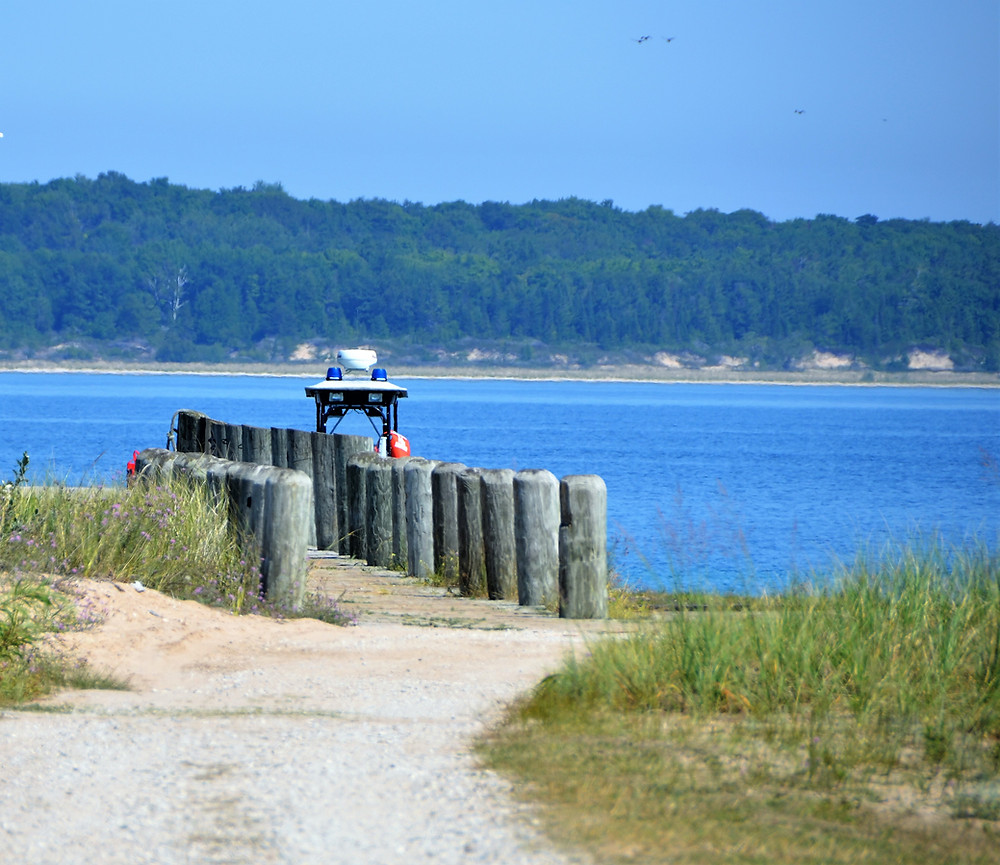 The ferry dock on South Manitou Island