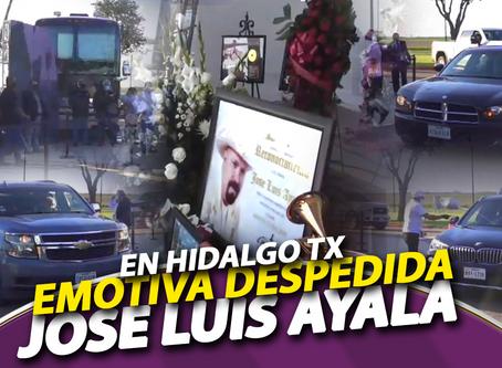 Así despidieron a José Luis Ayala en Hidalgo Texas
