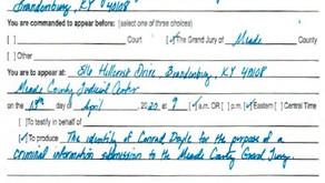 Publisher subpoenaed, motion to quash filed
