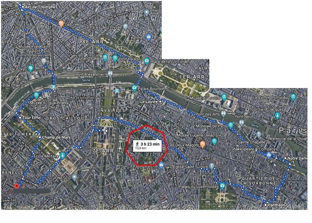 vue approximative de notre tour a Paris