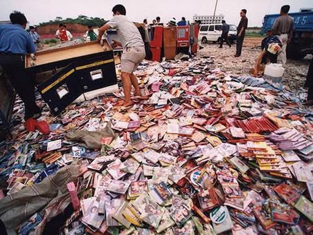 丹寨县开展假冒伪劣电器产品专项整治集中销毁
