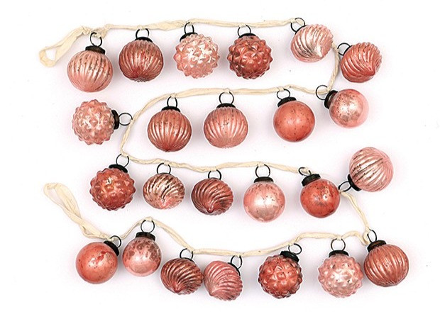 Mercury Glass Ornaments on String