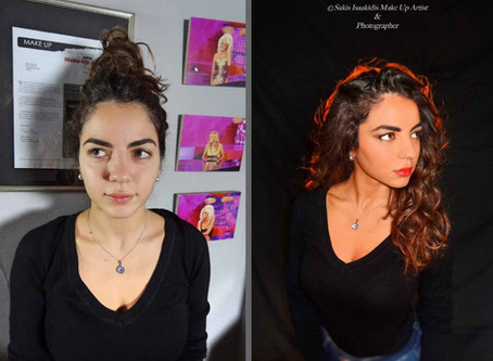 The power of Make Up * Before & After    @ Sakis Isaakidis Beauty Salon Make Up Seminars