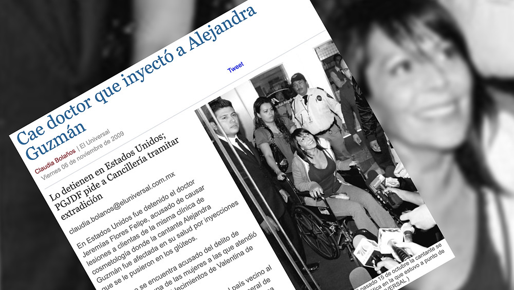 Noticia sobre Alejandra Guzmán.