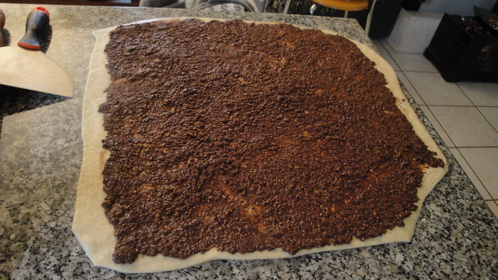 Brioche ρολάκια με σοκολάτα και φουντούκια.