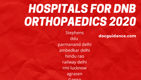 Best Institutes hospitals for DNB orthopaedics 2020